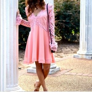 Tularosa Pink Lace Dress